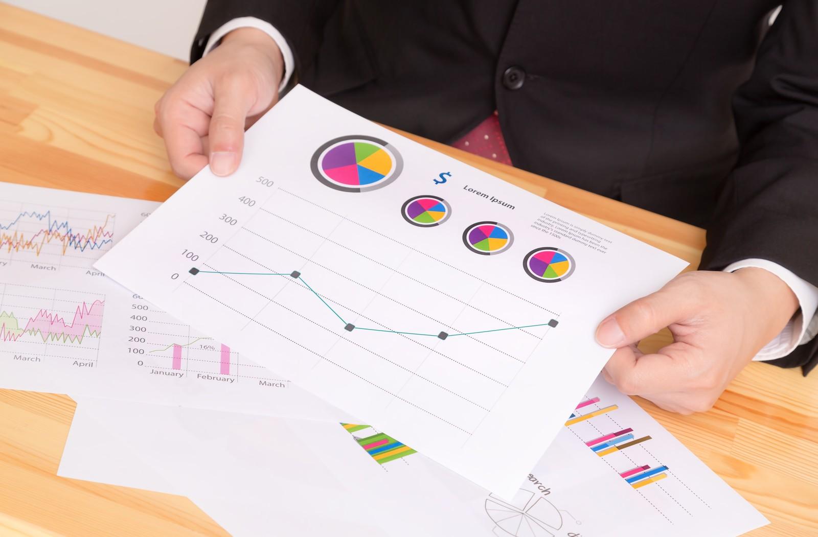 副業として稼げる資格である中小企業診断士が使う資料をイメージした画像
