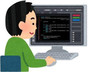 プログラミング言語を学ぶイラスト
